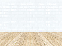 Tiles ceramic wall and wooden floor Royalty Free Stock Image