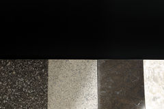 Tiles with Cobblestone texture isolated on black background Stock Photo
