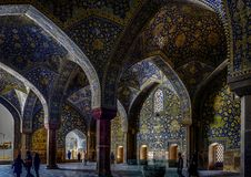 Tiles and Colorful Mosaics in the Mosque. stock images