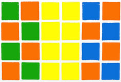 Tiles colorful orange blue yellow gree Stock Image