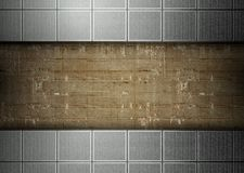 Tiles and concrete template background Stock Photography