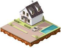 Tiles cottage10 stock photo