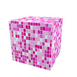 Tiles cube Royalty Free Stock Photography