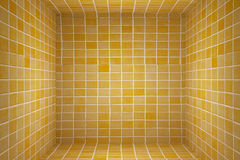 Tiles cube. 3d rendering of an abstract tiles cube background Royalty Free Stock Photo