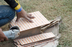 Tiles cutting Stock Photography