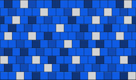 Tiles. 3d render of blue tiles texture with black gap Royalty Free Stock Image