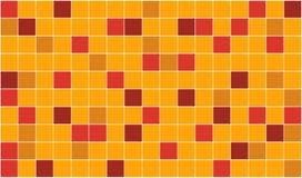Tiles. 3d render of orange tiles texture with black gap Royalty Free Stock Photo