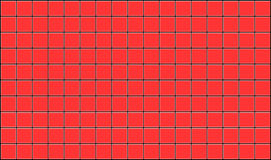 Tiles. 3d render of red tiles texture with black gap Stock Photography