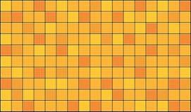 Tiles. 3d render of yellow tiles texture with black gap Stock Photos
