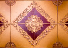 Tiles decorated with diamond shapes Stock Photos