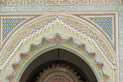 Detail entrance door of a mosque Royalty Free Stock Images