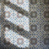 Tiles floor Art pattern with sun light royalty free stock images