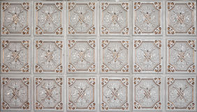 tiles den keramiska modellen för abstrakt bakgrundsbrown tappning Royaltyfria Foton