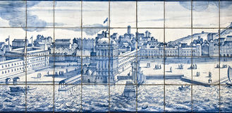 Tiles detail – Old Lisbon View Royalty Free Stock Photos