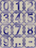Tiles with digits from zero to nine Stock Photography