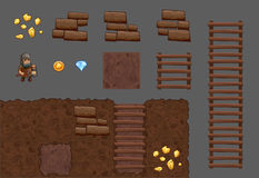 Tiles elements game pack Stock Photos
