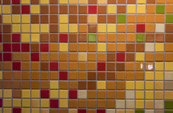 Tiles with Fall Colors. On Wall Background Image royalty free stock photo