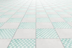 Tiles floor. 3d rendering of a square tiles floor vector illustration