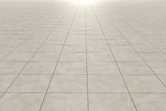 Tiles floor. 3d rendering of a square tiles floor stock illustration
