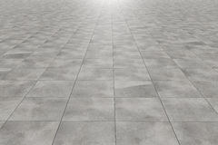 Tiles floor. 3d rendering of a square tiles floor royalty free illustration