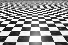 Tiles floor. 3d rendering of a square black and white tiles floor stock illustration