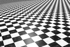 Tiles floor. 3d rendering of a square black and white tiles floor vector illustration