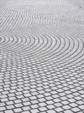 Tiles floor with radial pattern. Perspective view royalty free stock photo