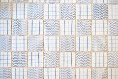 Tiles floor. Top view pattern of beautiful ceramic tiles floor i royalty free stock photos