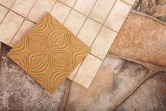 Tiled work in apartments and offices Royalty Free Stock Images