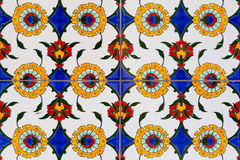 Tiles with floral pattern Stock Image