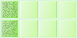 Tiles flowery green Royalty Free Stock Image