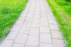 Tiles footpath Stock Photo