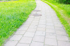 Tiles footpath stock photography