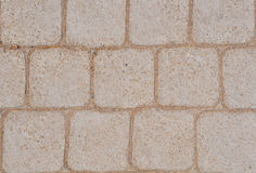 Tiles give a harmonic pattern at the ground Royalty Free Stock Image