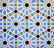Tiles glazed, Alcazar Royal palace in Sevilla, Spain. Mudejar Art, glazed tile skirting board, palace royal Alcazar in Seville, Andalusia, Spain Stock Images