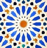 Tiles glazed, Alcazar Royal palace in Sevilla, Spain. Mudejar Art, glazed tile skirting board, palace royal Alcazar in Seville, Andalusia, Spain Stock Image