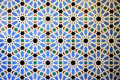 Tiles glazed, azulejos, Alcazar Royal palace in Sevilla, Spain Stock Photo