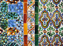 Tiles glazed composition, azulejos, Palace of Casa de Pilatos, Seville, Spain Royalty Free Stock Photography