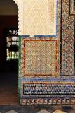 Tiles glazed composition, azulejos, Palace of Casa de Pilatos, Seville, Spain Stock Photography