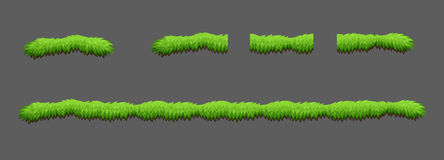 Tiles grass game pack Stock Image