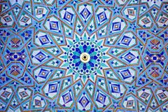 Tiles from the Hassan II Mosque Casablanca Morocco. Africa Stock Images