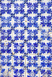 Tiles II. Typical Portuguese ceramic tiles coloured in blue Stock Images