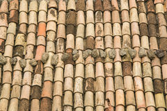 Tiles in the Italian roof Royalty Free Stock Images