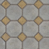 Tiles Laid out of Large Gray Polygons and Small Royalty Free Stock Image