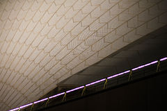 Tiles and lights in tunnel Royalty Free Stock Image