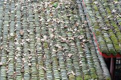Chinese folk house roof closeup. Closeup of Chinese folk house roof Stock Image