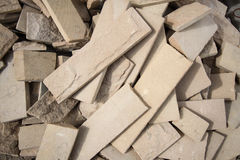 Tiles Material from demolished house Royalty Free Stock Photos