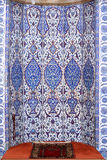 Tiles of mihrab in Rustem Pasa Mosque, Istanbul Royalty Free Stock Images