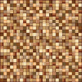Tiles mosaic. Brown mosaic tiles background / pattern/ texture Royalty Free Stock Image