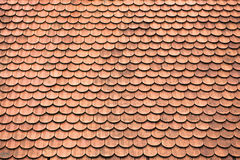 Tiles on old castle roof. Architecture background Royalty Free Stock Images